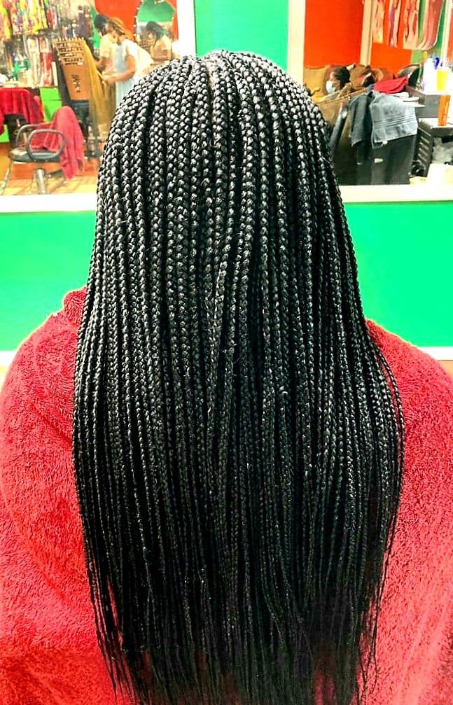 Box braids or singles