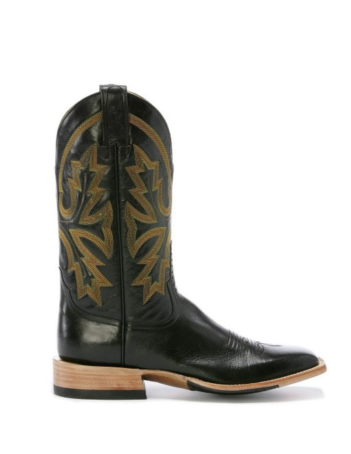 Rod Patrick Buffalo Roma Black Square Toe Boot RPM104