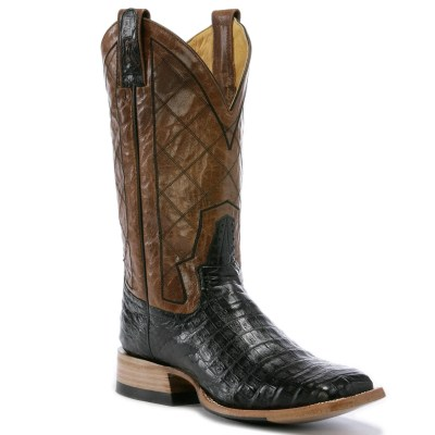 Rod Patrick Volcano Oryx Black Caiman Square Toe Boot RPM114