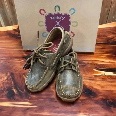 Kid's Twisted X Leather Bomber Driving Mocs YDM0002/CDM0002