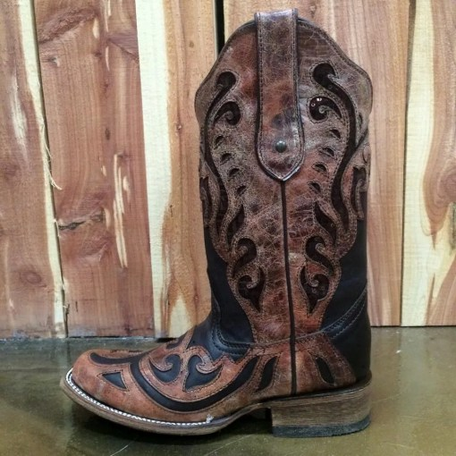 Corral Chocolate Sequin Inlay Boot C1199