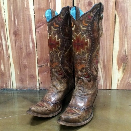Corral Aztec Embroidered Western Boot C2872