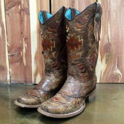 Corral Square Toe Aztec Western Boot C2915