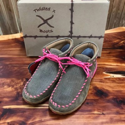 Women's Twisted X Tough Enough To Where Pink Driving Mocs WDM0051