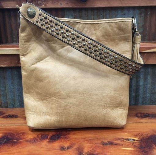 Double J Camel Pull Up Messenger Bag MST33