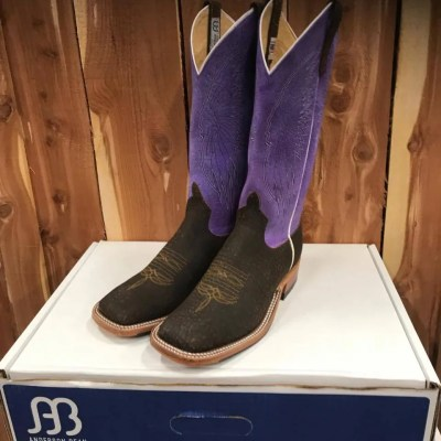 Women's Anderson Bean Purple Top Hungry Hippo Boot