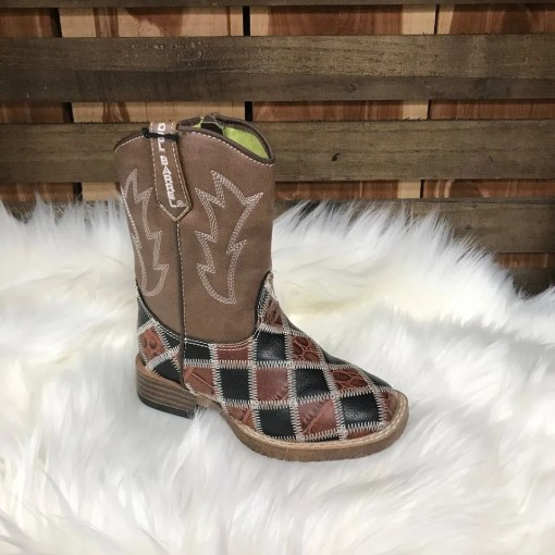 DBL Barrel Boys Andy Patchwork Square Toe Boot 4166107