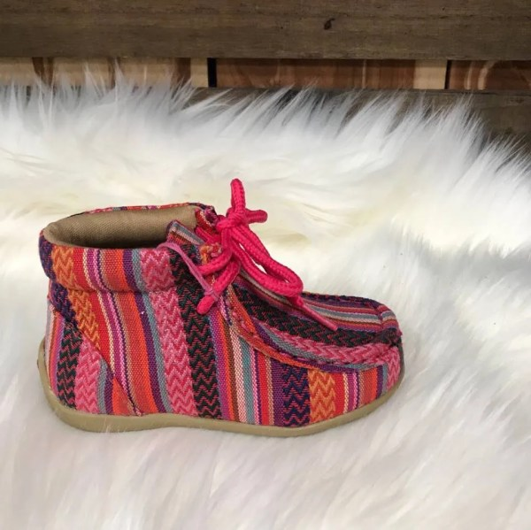 Blazin Roxx Child's Riley Pink Serape High Top Shoe 4411397