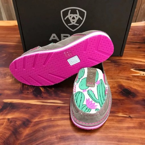 Women's Ariat Pink Cactus Print Cruisers 10023012