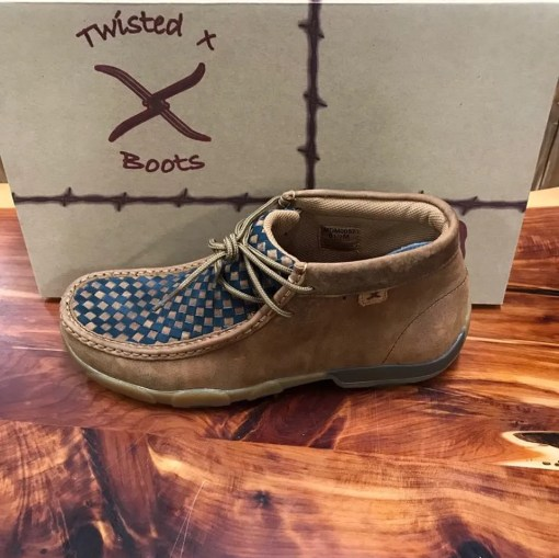 Men's Twisted X Saddle/Blue Oiled Driving Moc MDM0057