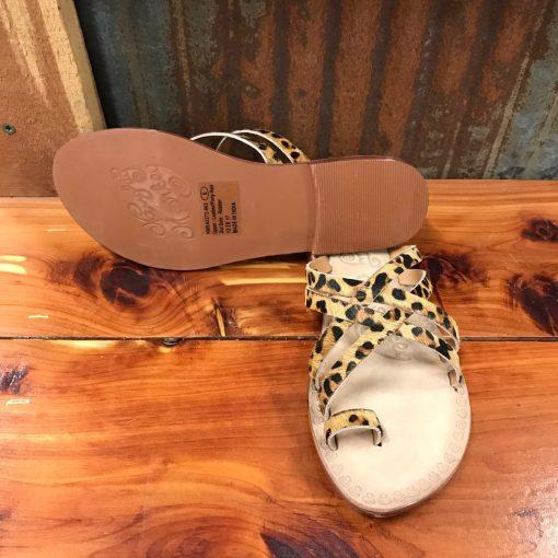 Ladies Naughty Monkey Zooche Leopard Slide Sandals NMSA0272