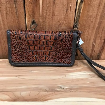 Double J Autumn Crocodile Print Ladies Zipper Wallet LZW05
