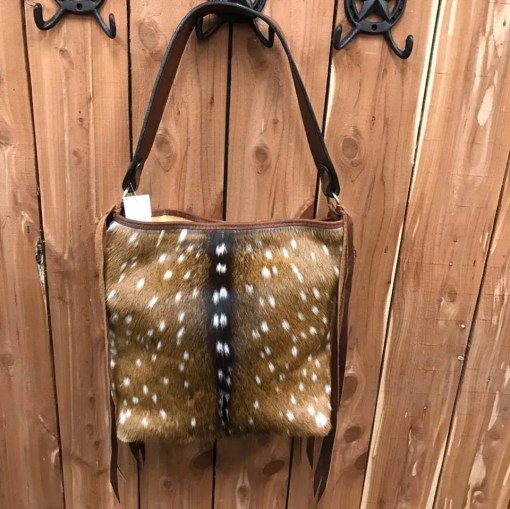 Double J Axis Hair-On Messenger Bag MST38