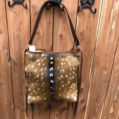 Double J Axis Hair-On Messenger Bag MST38