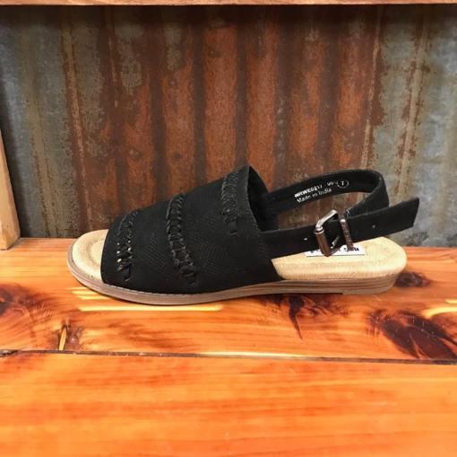 Ladies Not Rated Black Ophelia Peep Toe Sandal NRWE0217