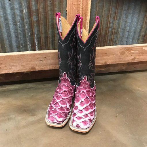 Women's Anderson Bean Raspberry Big Bass Square Toe Boot 3069M