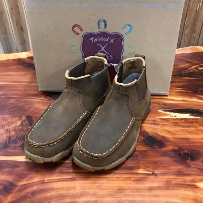 Kid's Twisted X Twin Gore Distressed Saddle Mocs YDMG001