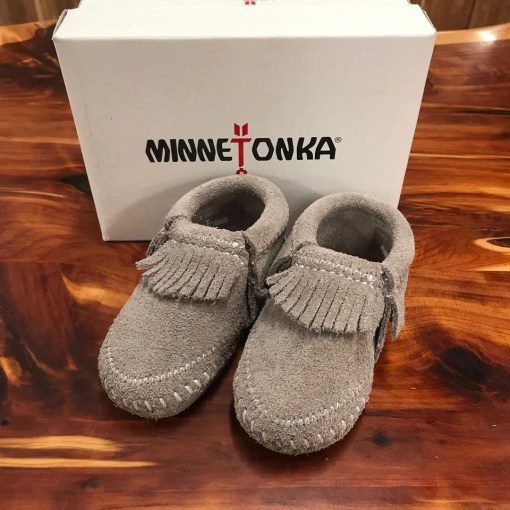Minnetonka Child's Riley Bootie-Grey 1661T