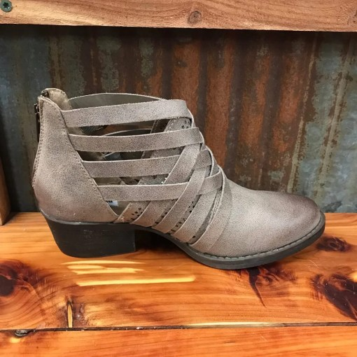 Ladies Not Rated Taupe Gael Cutout Bootie NRLB0390