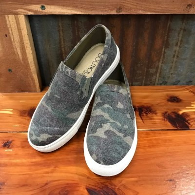 Ladies Camo Jungle Sneakers By Boutique
