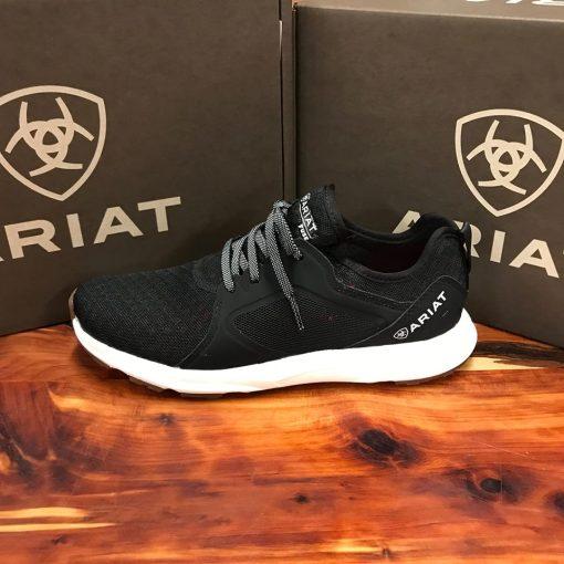 Women's Ariat Fuse Black Mesh Gym Shoe 10021633