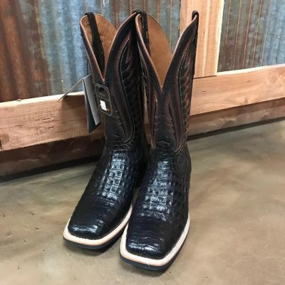 Men's Ariat Double Down Caiman Belly Square Toe Boots 10025085