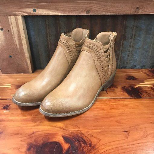 Ladies Detailed Camel Booties