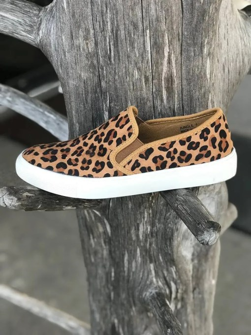 Ladies Corky Jungle Leopard Shoes