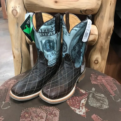 Kid's Tin Haul Money-Allowance Wanted Square Toe Boot
