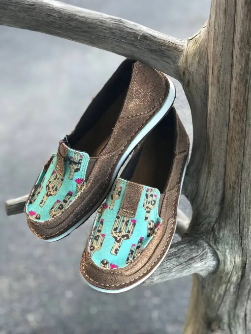 Ariat Women's Metallic Bronz & Leopard Cactus Cruisers 10027352