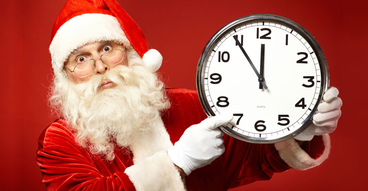 Santa's clock is ticking!