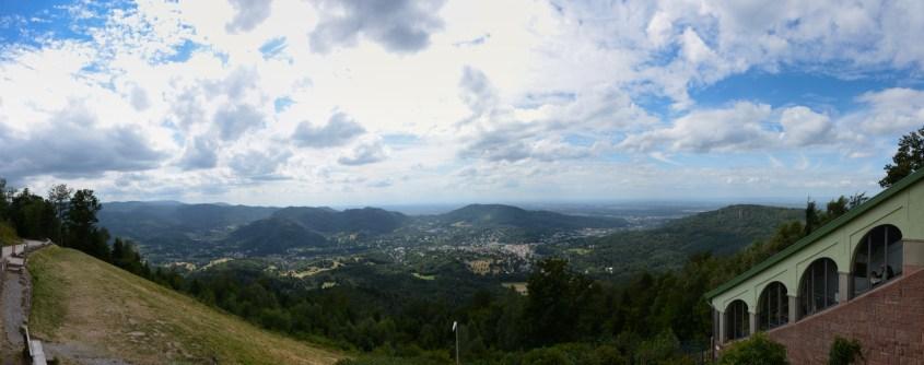 Blick vom Merkur über Baden-Baden
