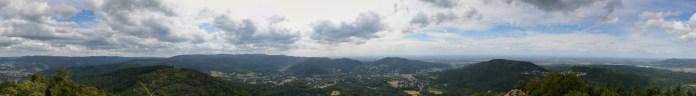 Panorama vom Aussichtsturm auf dem Merkur