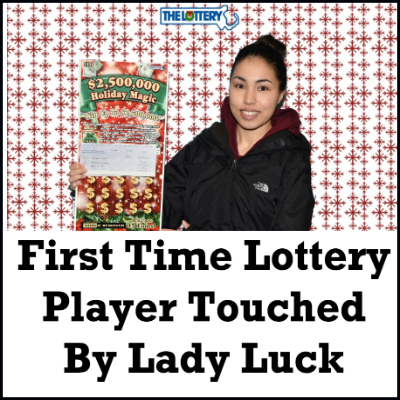 First Time Lottery Player Touched By Lady Luck