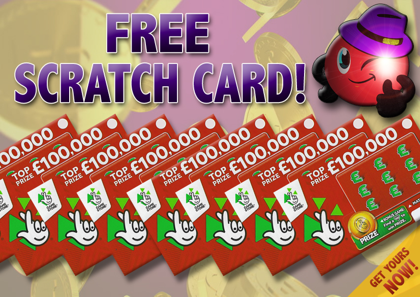 Lucky Number Dip Free Scratch Card banner