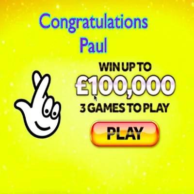 Daily Prize Draw Winner 25-08-2020