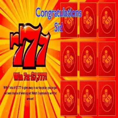 Daily Prize Draw Winner 30-12-2020