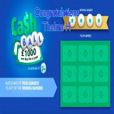 Daily Prize Draw Winner 14-01-2021