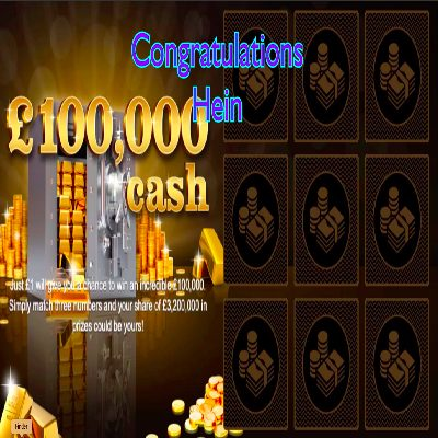 Daily Prize Draw Winner 20-02-2021