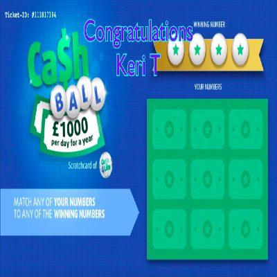 Daily Prize Draw Winner 01-03-2021