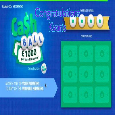 Daily Prize Draw Winner 30-03-2021