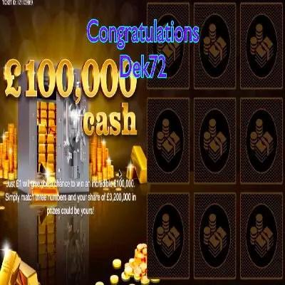 Daily Prize Draw Winner 20-06-2021