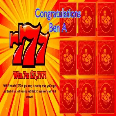 Daily Prize Draw Winner 19-07-2021