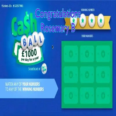 Daily Prize Draw Winner 07-09-2021