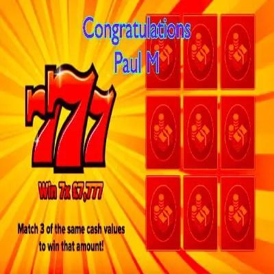 Daily Prize Draw Winner 15-09-2021