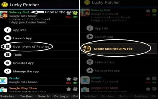 Click on Create Modified Apk File
