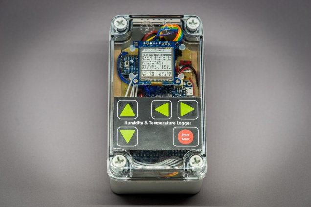 The deluxe data logger in its case