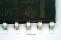 A SOP16 IC. 16 legs with a spacing of 1.27 mm.
