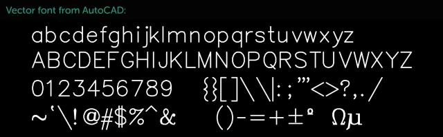 autocad-vector-font