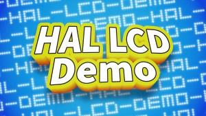 HAL LCD Demo
